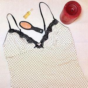 New Sexy Lace Trim Cami Sleepwear Tank Lingerie XS